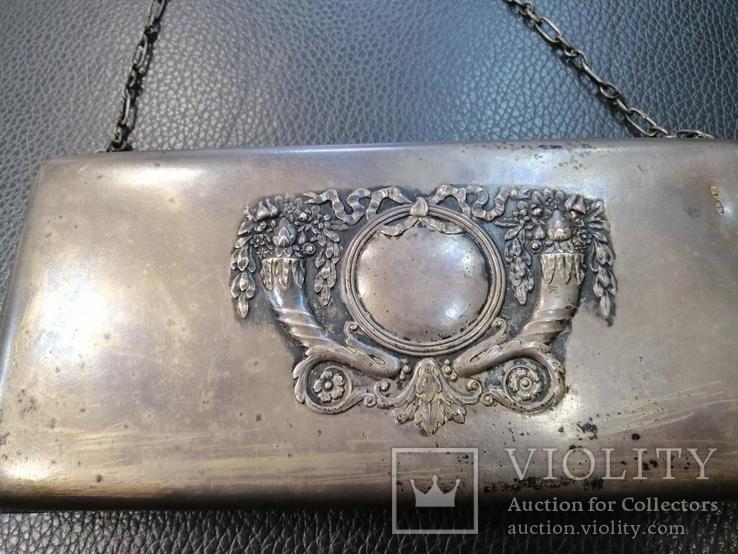Клатч женский серебро 84