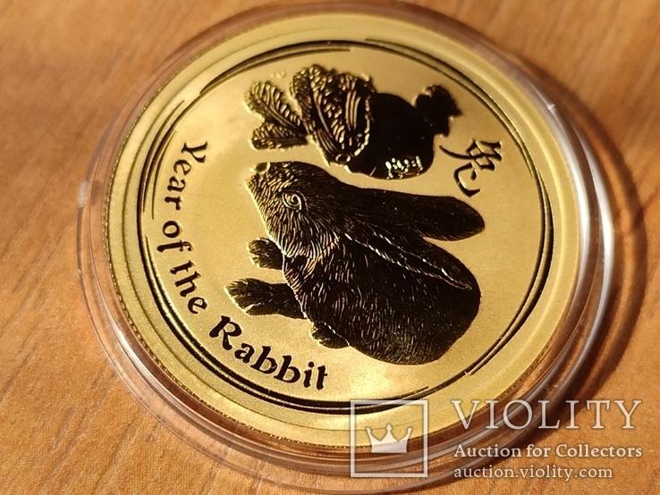 50 долларов Австралия, 1/2 унция, 2011 год Кролика