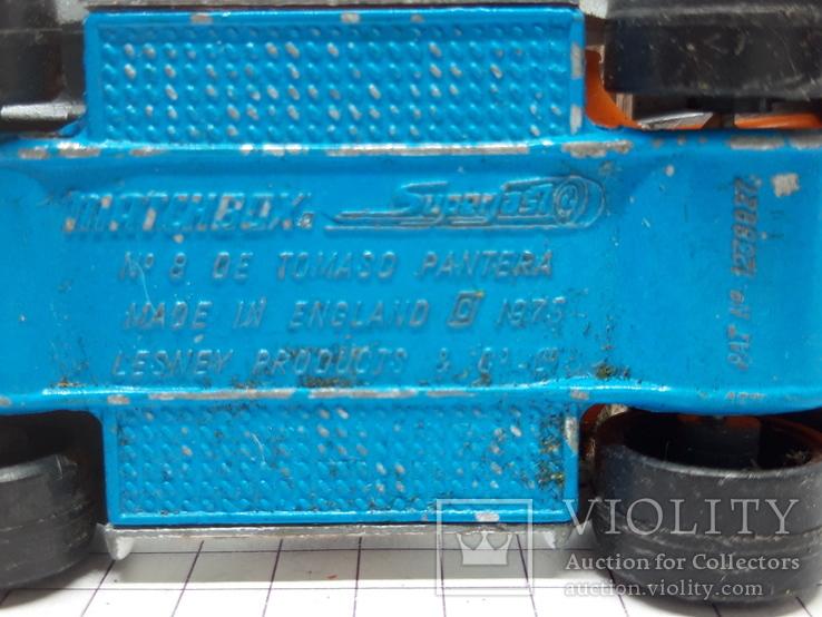 1976 Matchbox Lesney. Made in England.De Tomaso Pantera (cc), фото №9