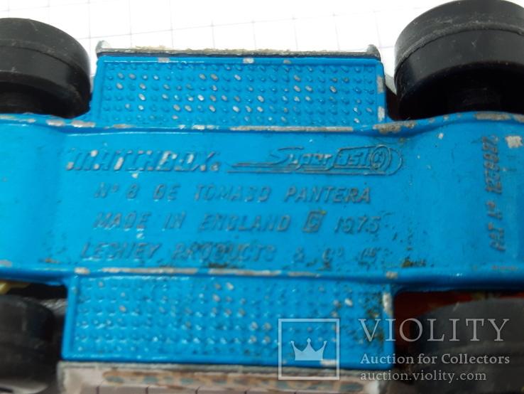 1976 Matchbox Lesney. Made in England.De Tomaso Pantera (cc), фото №10
