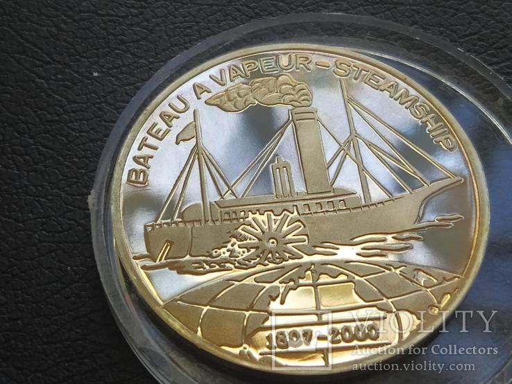 Бенин 2000 Корабль Парусник серебро, фото №2
