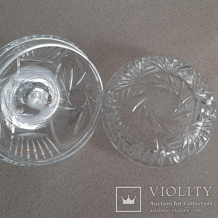 Шкатулка(ваза) хрустальная с крышкой.Чехословакия, фото №7