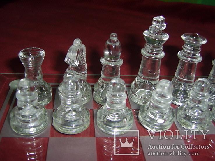 Комплект стеклянных шахмат со стеклянной доской  Англия в родной упаковке, фото №3