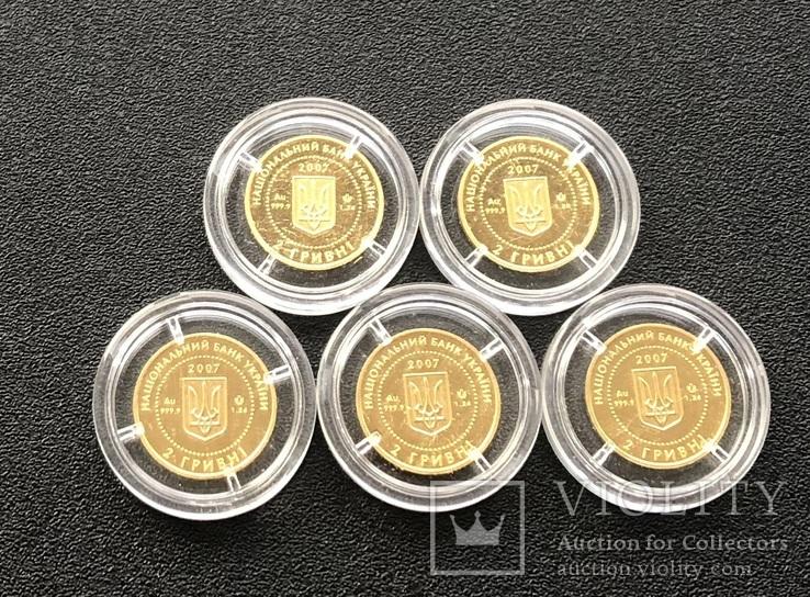 2 гривні 2007 рік. Бабак (байбак). Золото 1,24 грам - 5 монет., фото №6