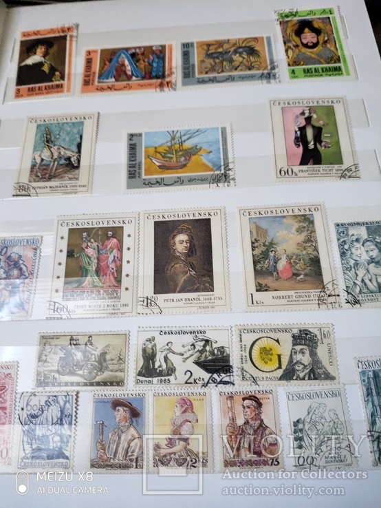 Большой набор марок +бонус кляссер, фото №3