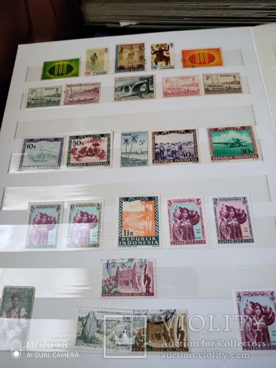 Большой набор марок +бонус кляссер, фото №6
