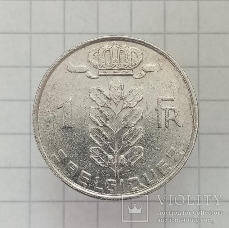 1 франк 1980г Бельгия, фото №2