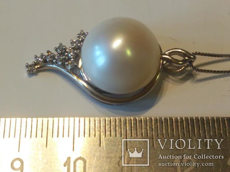 Цепочка + кулон 4 серебро, фото №3