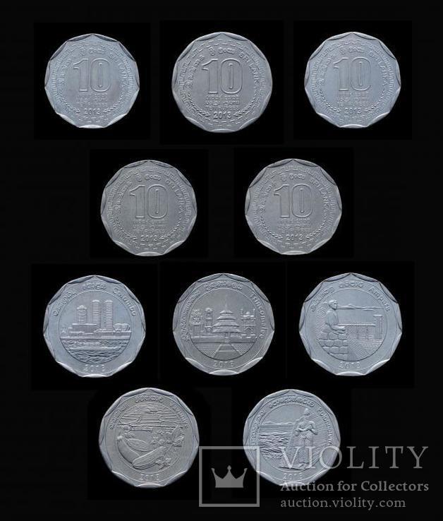 Набор 10 Рупий 2013 Административные Округа 25 Монет, Шри-Ланка, фото №2