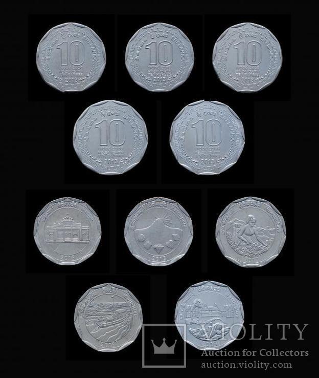 Набор 10 Рупий 2013 Административные Округа 25 Монет, Шри-Ланка, фото №3