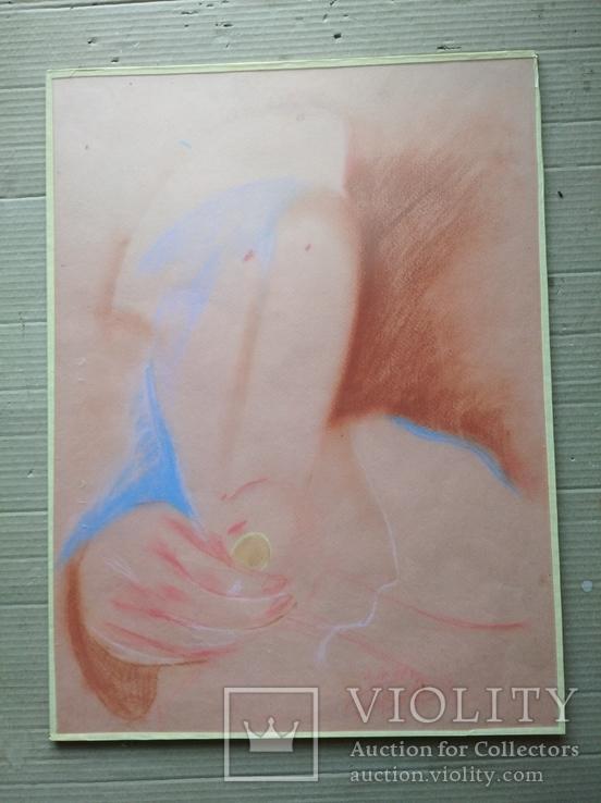 """""""Орел или решка"""" к.паст. 56х42 см. Григорий Вовк, фото №3"""