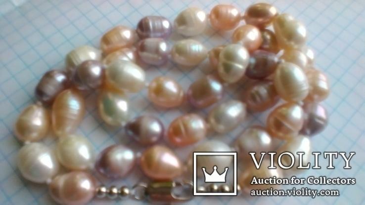 Намисто з перлин кольорових, фото №2