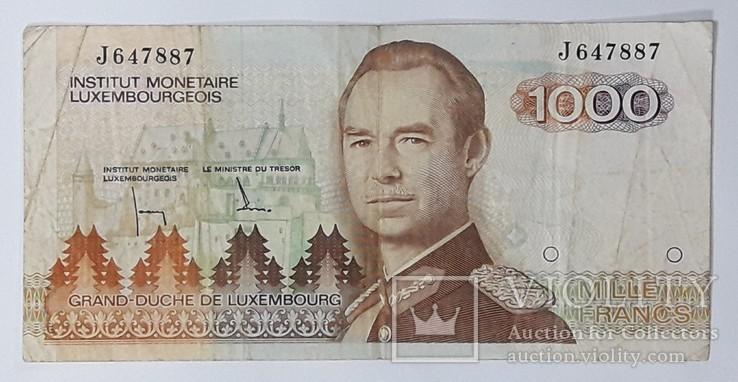 Люксембург 1000 франков, фото №2