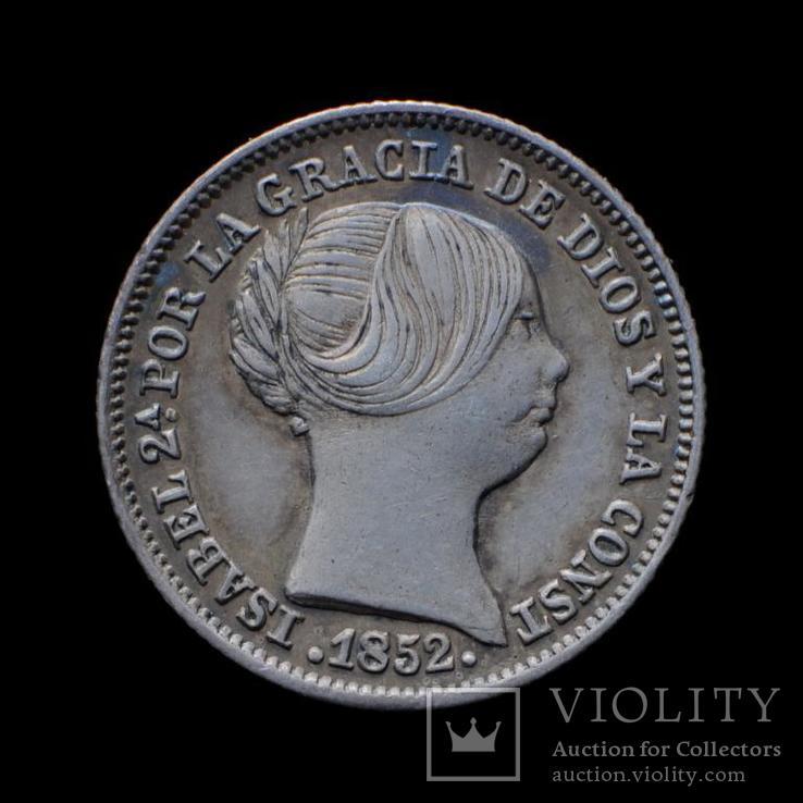 1 Реал 1852 Изабелла ІІ, Испания аUNC, фото №2