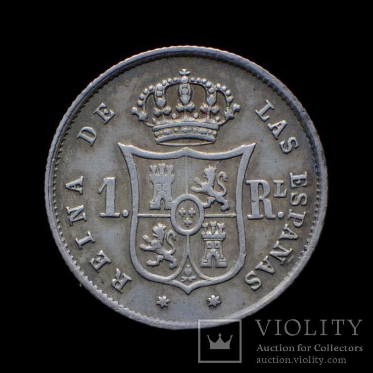 1 Реал 1852 Изабелла ІІ, Испания аUNC, фото №3