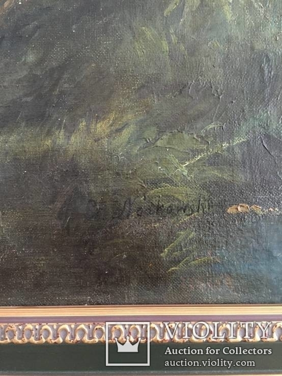 Картина (пейзаж) худ. Ноаковски Станислав, Польша. Начало 20 в. Подписная. Подлинник., фото №5