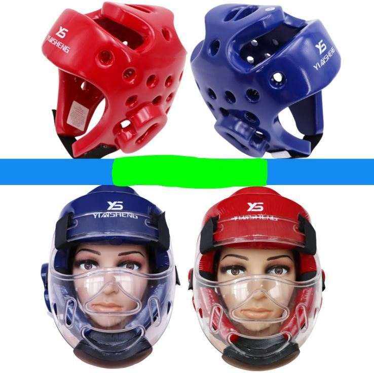 Шлем для карате тхэквондо единоборства с пластиковой маской