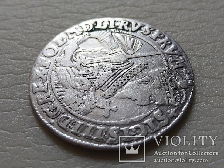 Коронный Орт 1623 год. Быгдощ. PRVM Узоры на реверсе., фото №5