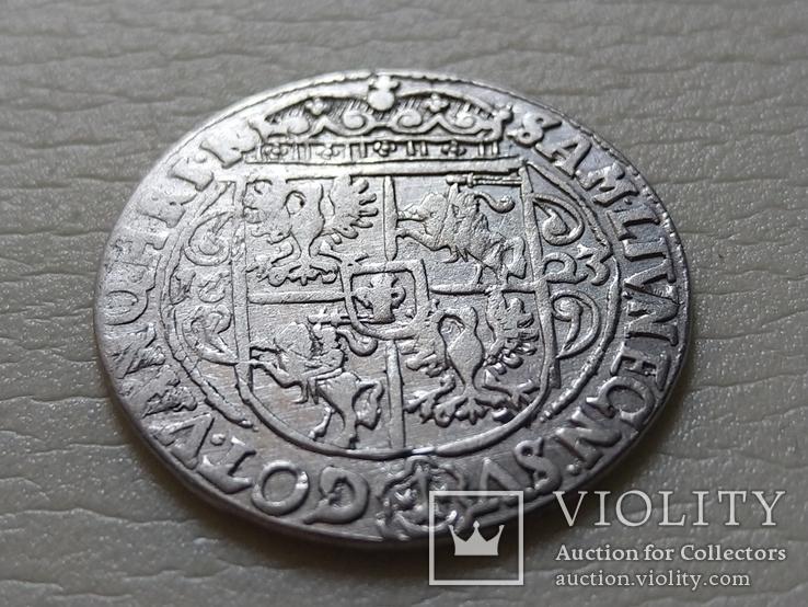 Коронный Орт 1623 год. Быгдощ. PRVM Узоры на реверсе., фото №8