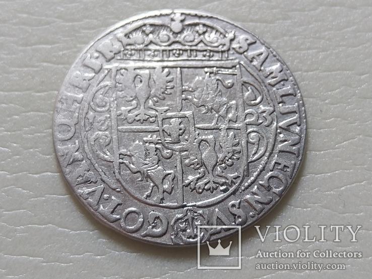 Коронный Орт 1623 год. Быгдощ. PRVM Узоры на реверсе., фото №9