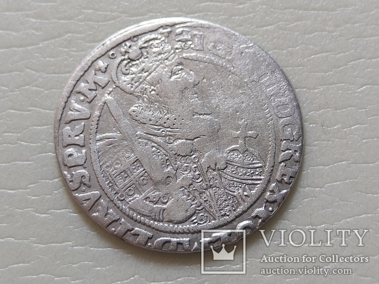 Коронный Орт 1622 год. Быгдощ. Над короной 2 точки и Х., фото №3