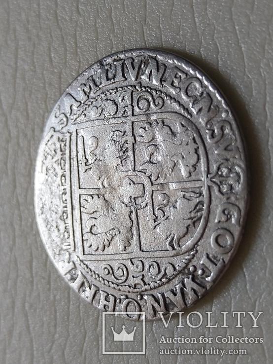 Коронный Орт 1622 год. Быгдощ. Над короной 2 точки и Х., фото №6