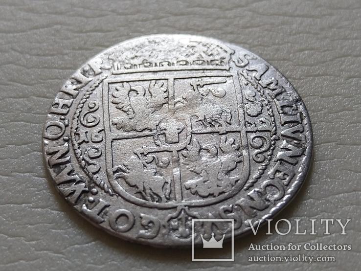 Коронный Орт 1622 год. Быгдощ. Над короной 2 точки и Х., фото №7