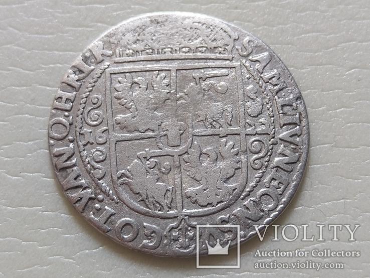 Коронный Орт 1622 год. Быгдощ. Над короной 2 точки и Х., фото №8