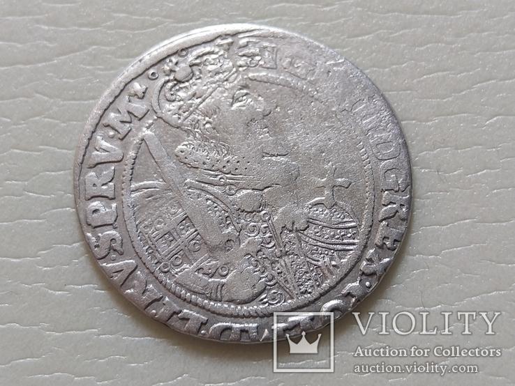 Коронный Орт 1622 год. Быгдощ. Над короной 2 точки и Х., фото №13