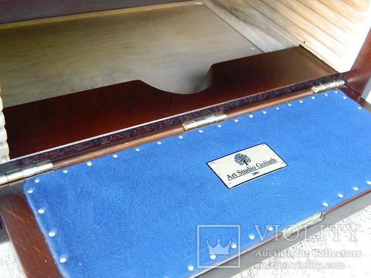 Мюнцкабинет для габаритних монет + бокс (280+ ложементів діам.30-65мм.)), фото №7