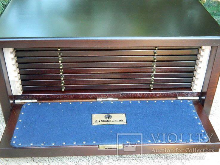 Мюнцкабинет для габаритних монет + бокс (280+ ложементів діам.30-65мм.)), фото №12