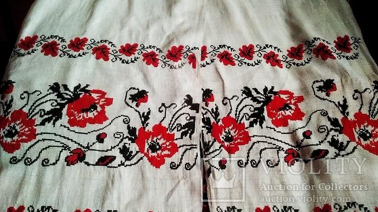 Старинный полотняный вышитый рушник, фото №2