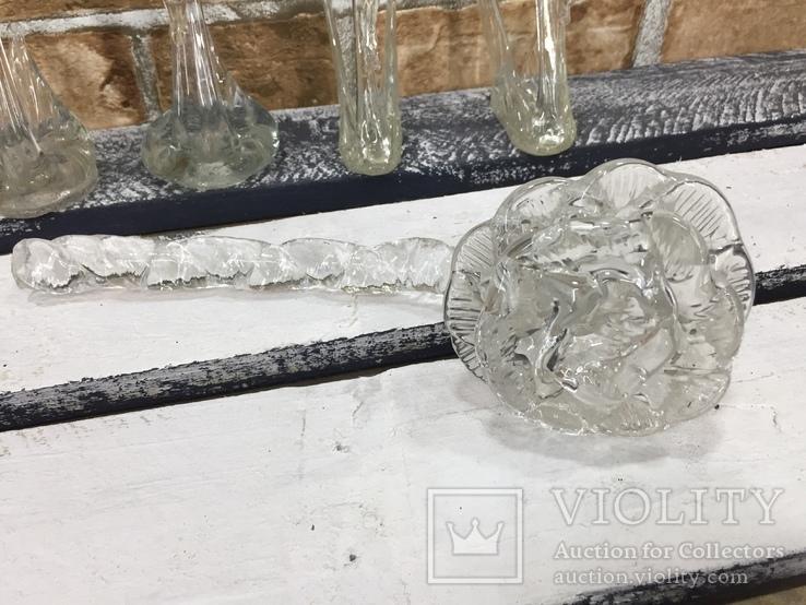 Стекляные Лебеди - 4 шт + Роза, фото №3