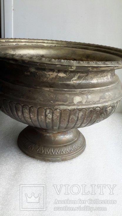 Фруктовница Англия латунь, посеребрение, фото №3