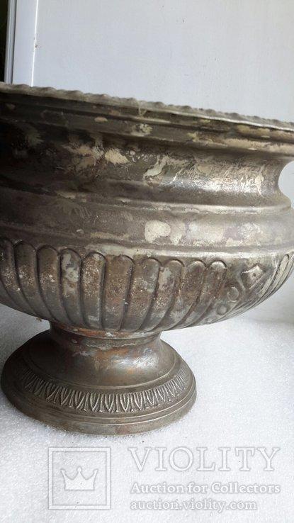 Фруктовница Англия латунь, посеребрение, фото №4