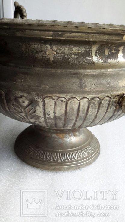 Фруктовница Англия латунь, посеребрение, фото №5