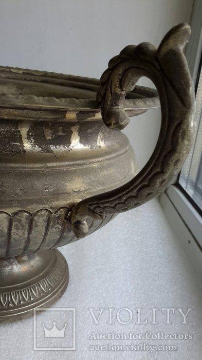 Фруктовница Англия латунь, посеребрение, фото №7