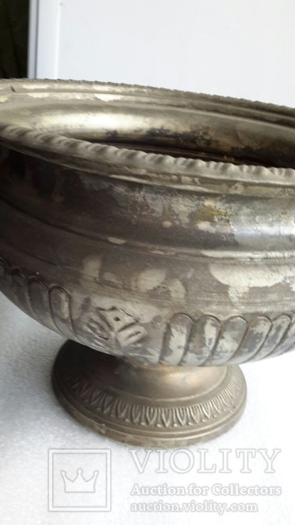 Фруктовница Англия латунь, посеребрение, фото №9