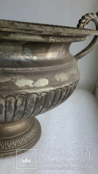 Фруктовница Англия латунь, посеребрение, фото №11