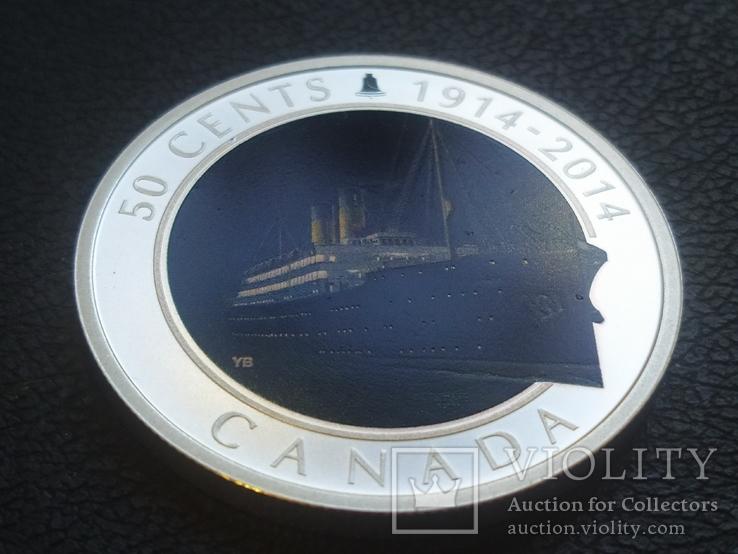 Канада 2014 Корабль Парусник серебро, фото №2