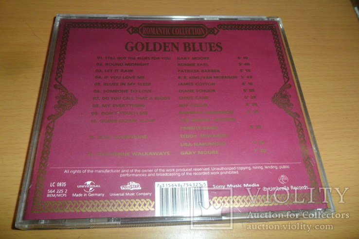 Диск CD сд Golden Blues . Romantic collection . Made in Germany, фото №4