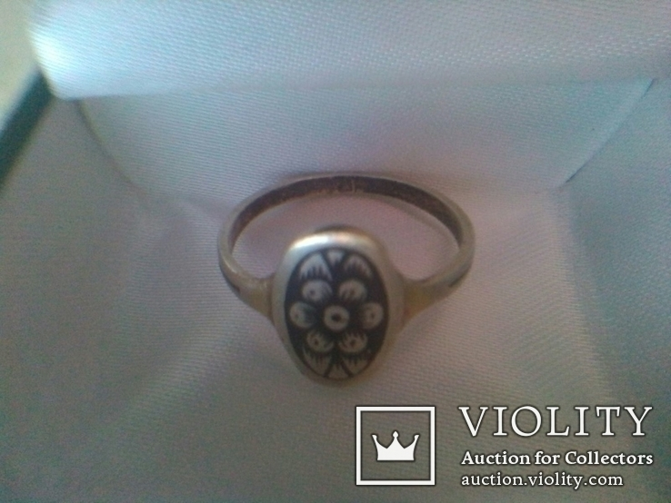 Перстень СССР срібний р.18, фото №3