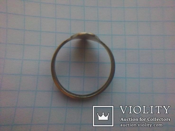 Перстень СССР срібний р.18, фото №9