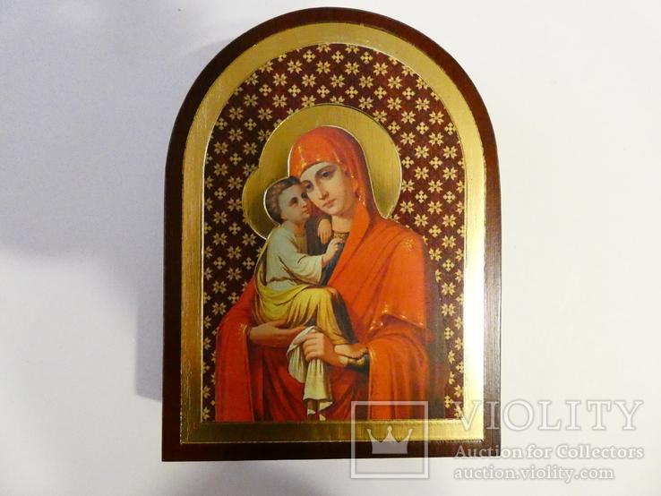 Почаевская Икона Божией Матери - серебро, позолота, кристаллы Сваровски, фото №5