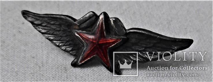 Знак Авиационный техник ВВС РККА авиац. училищ, копия, №071, фото №3
