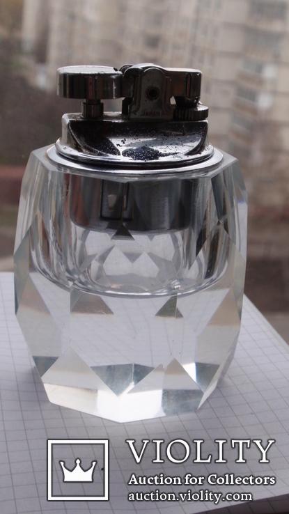 Коллекционная японская стеклянная зажигалка + пепельница, фото №3