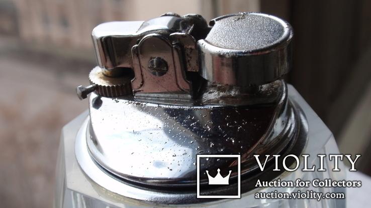Коллекционная японская стеклянная зажигалка + пепельница, фото №6