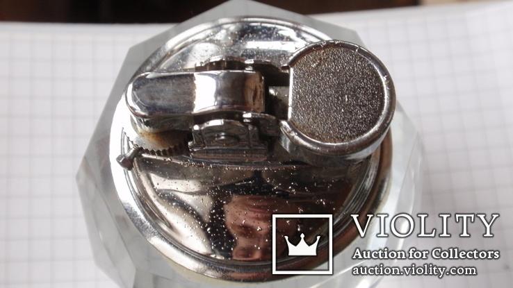 Коллекционная японская стеклянная зажигалка + пепельница, фото №7