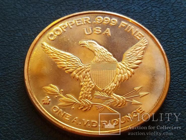 Линкор USS Missouri Корабль США Монетовидный жетон Медь 999 Унция, фото №3