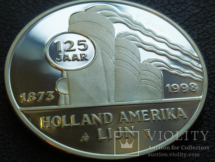 Ноордам Аляска Корабль монетовидный жетон 125 лет Holland America Line 1998, фото №3